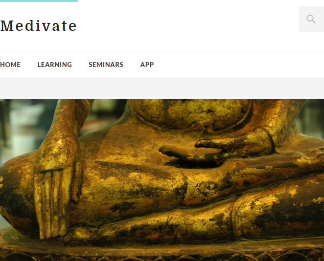 medivate meditation startup | web design by press up