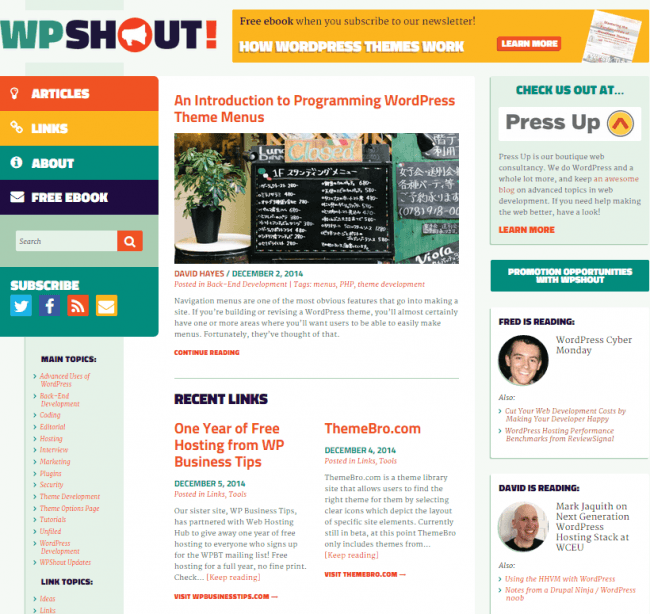 WPShout by Press Up