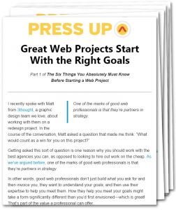 Options for Starting a Newsletter - Press Up